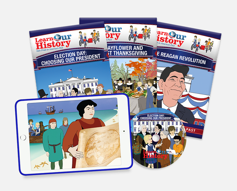 Learn Our History American History video lessons for kids. Available on DVD and streaming video.