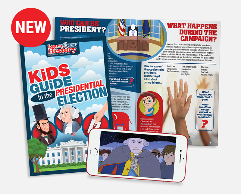 New: Learn Our History's Kids Guides are great for kids who love to read, giving them an engaging way to learn our history