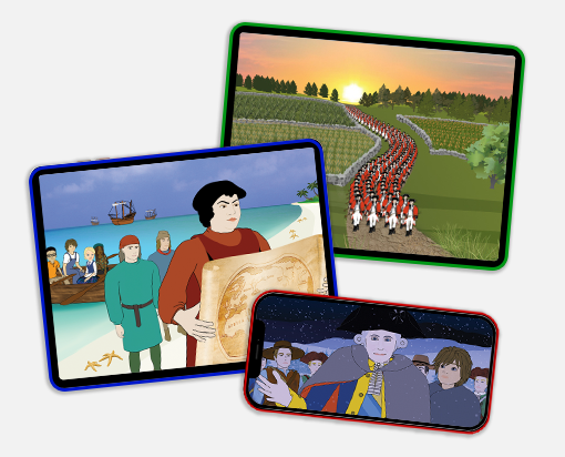 Learn Our History American history streaming video lessons work on all internet connected devices